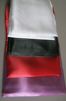 New Satin Pillow case Cover Pillowcase Standard Size Black White Red Purple NWT