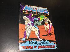 Vintage MOTU He-Man 1982 Masters of Universe Mini Comic temple darkness skeletor