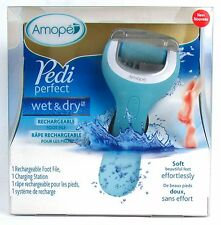 NEW Amope Pedi Perfect Wet & Dry Rechargeable Foot File Charging Station SEALED