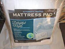 Biddeford Electric Heated Mattress Pad Delightful Nights   Full + 1 Controller