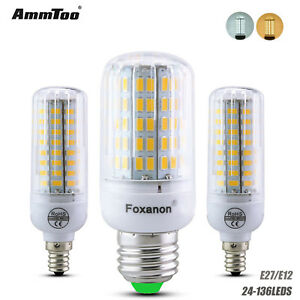 E27 E12 LED Corn Bulb 5730 SMD Cool White Lamp Light 7W9W15W20W35W  220V110V