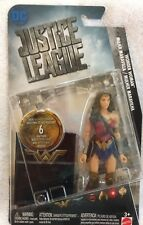 """DC COMIC JUSTICE LEAGUE 6"""" """"WONDER WOMAN"""" ACTION FIGURINE WITH LOGO PLATE"""