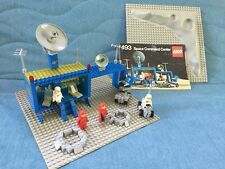 Lego Classic Space Command Center 493 Flatplate & Crater COMPLETE Instructions