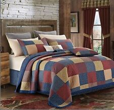 Patriotic Charm 3 Piece Quilt Set -King-2 Shams Included- New 105 X 95