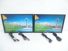 "LOT OF 2 Dell UltraSharp 2208WFPt 22"" LCD Widescreen Monitor USB Hub, VGA & DVI"