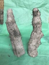 """Lot of 2 Natural Rough Cypress Knees With Bark Woodworking Pair 11"""""""