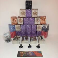 Lot of 24 WizKids Mage Knight Limited Edition Figures With Box + Cards & Extras