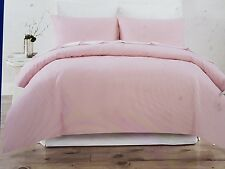 LINEN COTTON QUEEN QUILT COVER.  BLUSH PINK