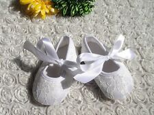 Baby Shoes White Lace Baby Shoes Size 6-9 months (12cm) Brand New Baptism Shoe