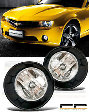 2010 2011 2012 2013 Chevy Camaro Fog Light Clear Lens Front Lamps Complete Kit