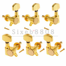 6x Acoustic Guitar Tuning Pegs Tuner Machine Heads Tuners Gold 3L3R
