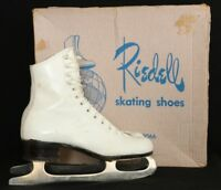 Riedell Red Wing 220W Vtg USA White Figure Skating Ice Skates Women's US 5N