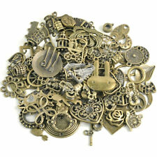 Mixed 50g Vintage Antique Brass Charms Beads DIY Jewellery Making Spacer Caples