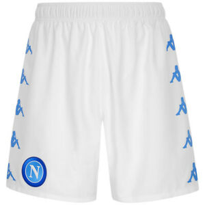 Pantalones Cortos Napoli Ssc Hombre Fútbol Original Blanco Kombat 2020/2021