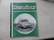 Motor sport Magazine March 1958 Published England Ads for Triumph VW Lucas MORE