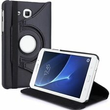 "Leather Folio Case Stand Cover For Samsung Galaxy Tab A6 10.1"" T580 T585 - BLACK"