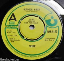 "Wire - Outdoor Miner UK 1978 Harvest Demo 7"" Single Company Sleeve"