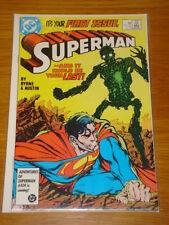 SUPERMAN #1 VOL 2 DC COMICS NEAR MINT CONDITION JANUARY 1987