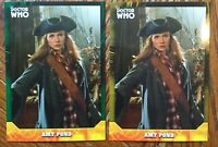 2017 Doctor Who Signature Series Amy Pond Yellow & Green Parallel Cards LOT of 2