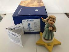 "Hummel 2096/K Joyful Recital 2001 Annual Angel TMK8 Star Base, Box, & COA 4 1/2"""