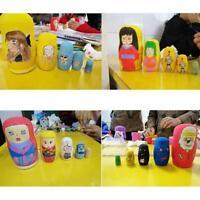 Set 5 Pcs Matryoshka Russian Nesting Dolls Unpainted Blank
