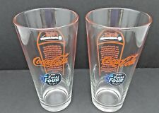 NCAA Coca-Cola Drinking Glass 20 oz Final Four Detroit March Madness Set of 2