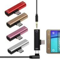 USB-C Type-C Adapter Port to 3.5MM Aux Audio Jack Earphone Headphone Cable USB