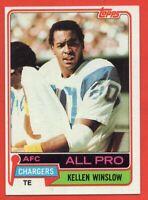 1981 Topps #150 Kellen Winslow NEAR MINT+ ROOKIE RC HOF San Diego Chargers
