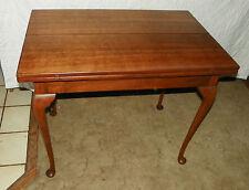 Quartersawn Oak & Cherry Flip Top Game Table / Entry Table  (T70)