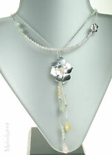PILGRIM+ Sterling 925 Silver Flower Quartz Beads Necklace BNWT Limited Edition