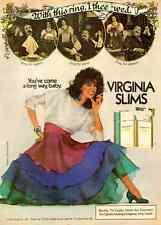 1984 vintage ad for Virginia Slims Cigarettes, pretty brunette-251