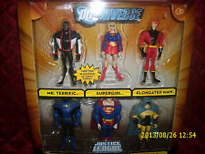 DC UNIVERSE JUSTICE LEAGUE UNLIMITED PACKAGED SET OF 6 THE LEAGUE UNITED
