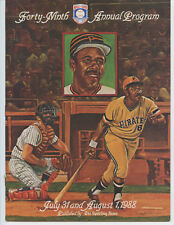 """1988 """"WILLIE STARGELL"""" HALL OF FAME INDUCTION PROGRAM (PITTSBURGH PIRATES, NICE)"""