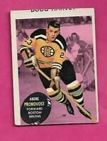 1961-62 TOPPS # 5 BRUINS ANDRE PRONOVOST ERROR  CARD  (INV# C5064)