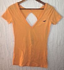 HOLLISTER orange or peach top womens size S Small
