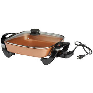 Home Style Kitchen Copper Ceramic Electric Skillet