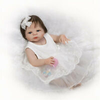 "22"" Newborn Handmade Girl Doll Full Vinyl Silicone Reborn Dolls Realistic"