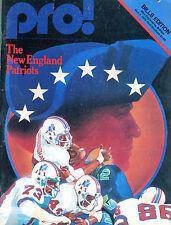 Pro! Program Buffalo Bills vs. New England Patriots Nov. 4 1979 EX 031816jhe