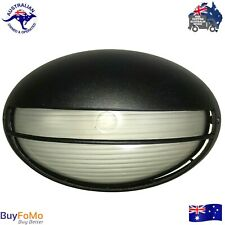 Eyelid Bunker Bulkhead Black Outdoor Wall Light Diecast Aluminium LED Compatible