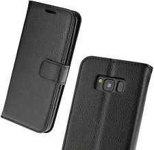 Custodia Pieghevole Stile Libro Nero Case per Cellulare Samsung Galaxy S8
