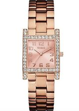 Guess Watch * U0128L3 Crystal Rose Gold Steel Square Dial COD PayPal