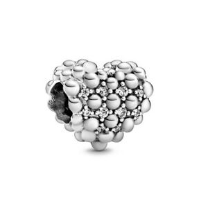 Heart S925 Charm Pandora Moments Genuine Sterling Silver ALE Gems Family