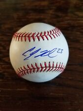 A.J. Reed Autographed Rawlings Official Major League BP Baseball (Manfred)