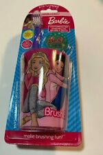 Barbie Soft Toothbrush Set - Toothbrush, Rinse Cup and Brush Cap (Aqua)