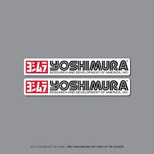 SKU2413 - 2 x Yoshimura Exhausts - Suzuki -  Decals - Stickers - 150mm x 24mm