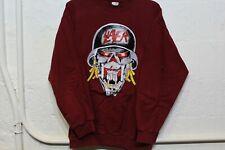 Vintage Slayer Crewneck Size Mens L RARE Death Metal Tour Maroon Sweatshirt
