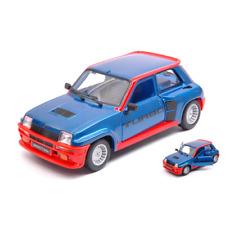 RENAULT 5 RURBO 1982 BLUE/RED 1:24 Burago Auto Stradali Die Cast Modellino