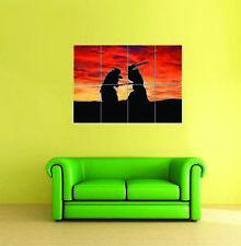 Samurai Sunset Gigante Pared Arte Cartel Impresión Foto Nueva