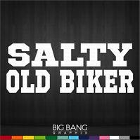 Funny OLD BIKER Decal Sticker Vinyl Die Cut Truck Car Window Motorcycle Bike
