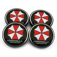 4x 60mm UMBRELLA CORPORATION Nabendeckel Felgendeckel Nabenkappen
